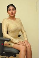 Actress Pooja Roshan Stills in Golden Short Dress at Box Movie Audio Launch  0100.JPG