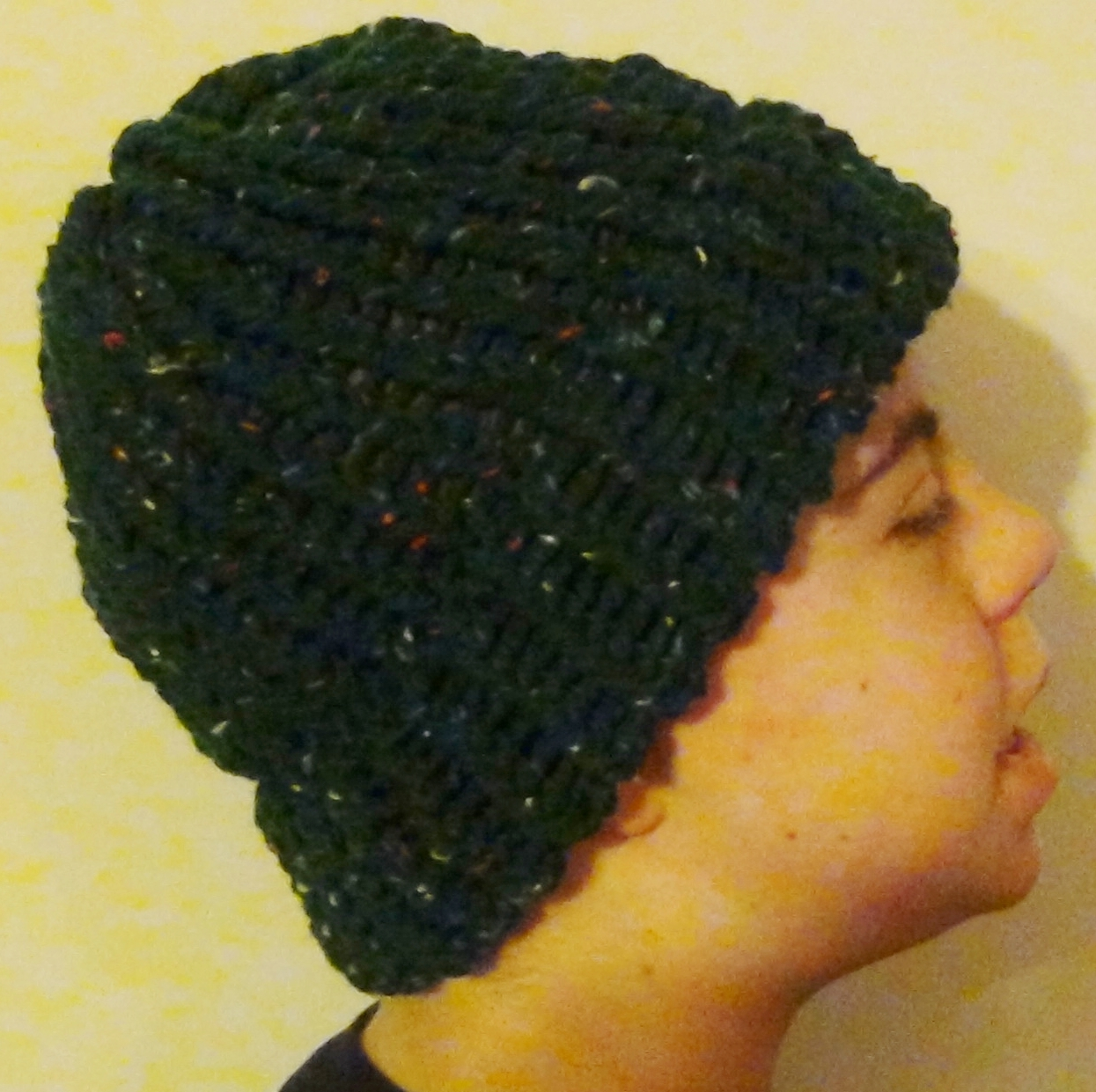 041e9478112 The Knifty Knitter  Basic Knifty Knitter Hat on the Round Green Loom