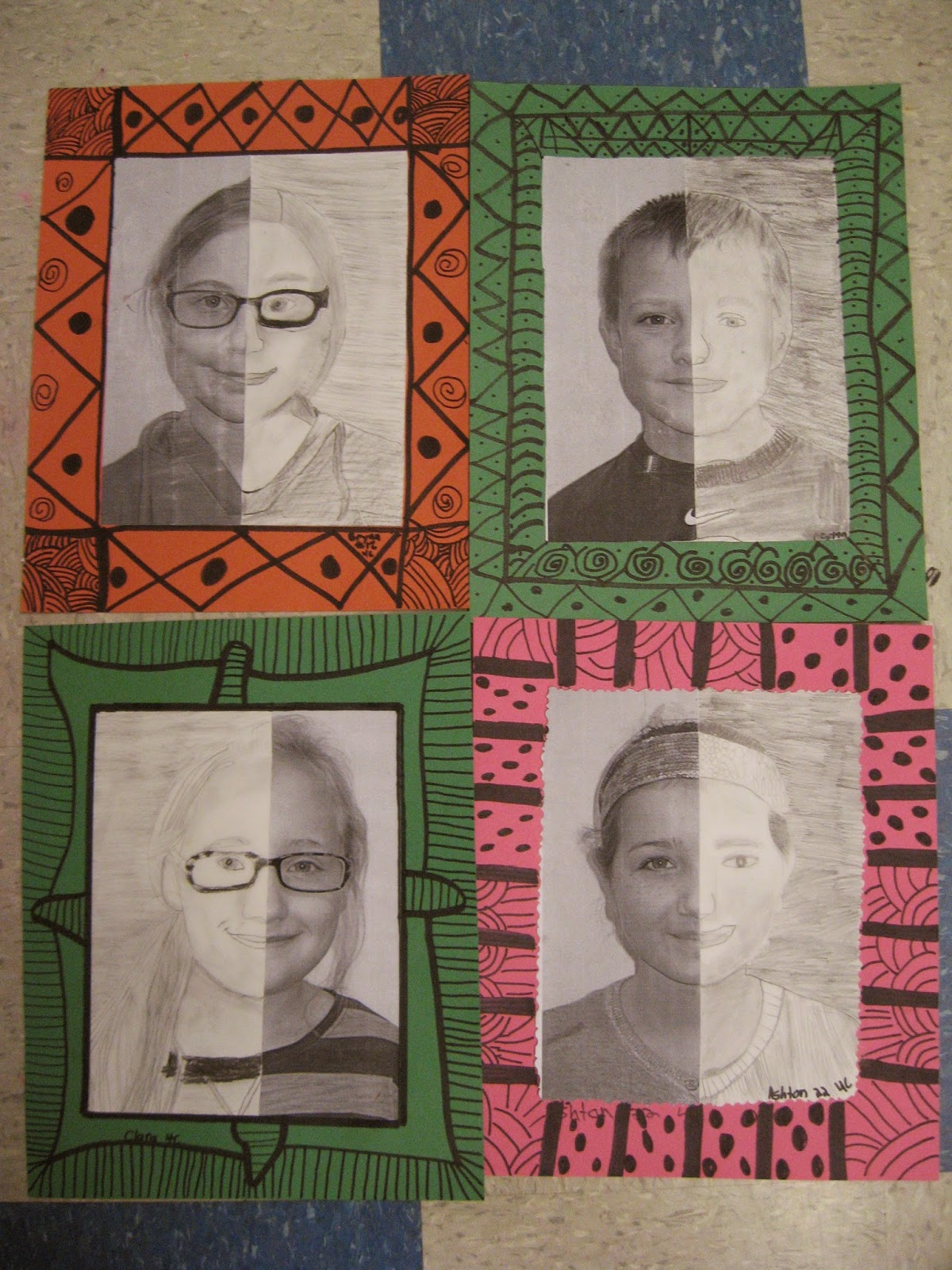 Jamestown Elementary Art Blog 4th Grade Mary Cassatt Portraits