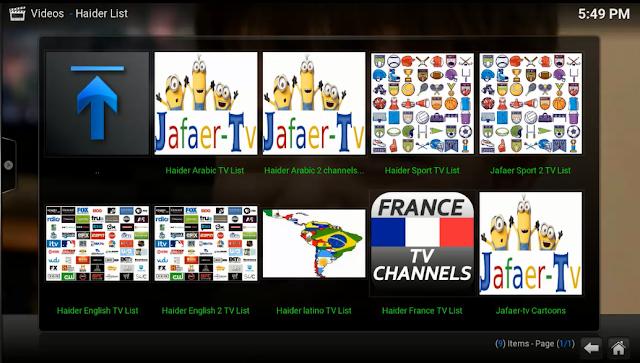 إضافة HAIDER List لمشاهدة عدد كبير من القنوات العربية والأجنبية على KODI