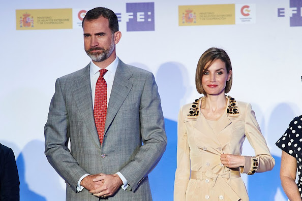 King Felipe of Spain and Queen Letizia of Spain attended the 'Rey de Espana' and 'Don Quijote' Journalism Awards Ceremony at Matadero de Madrid