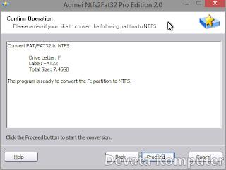 Convert, Tutorial, NTFS, FAT32, Cara, Tanpa, Format