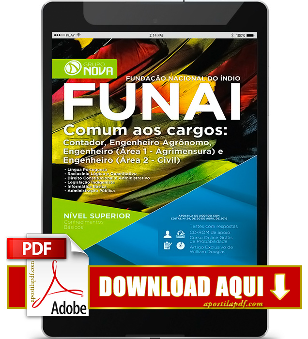 Apostila FUNAI 2016 Contador PDF Download
