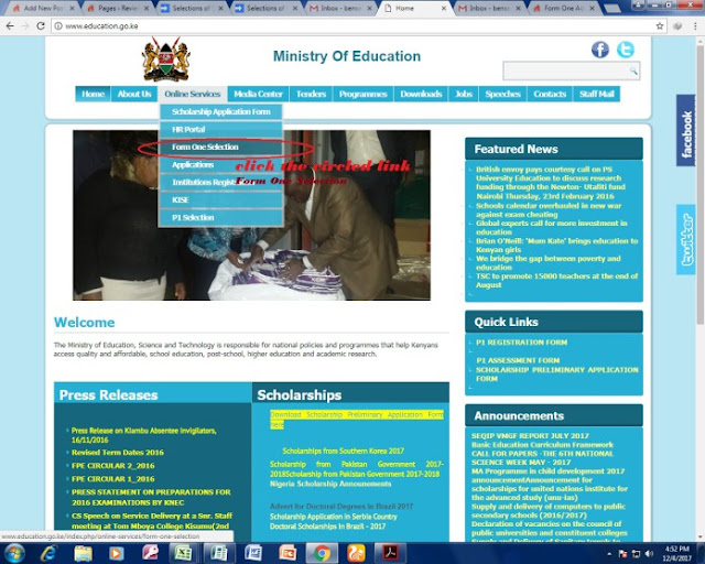 Form One Selection 2018 and Form One Admission Letters 2018