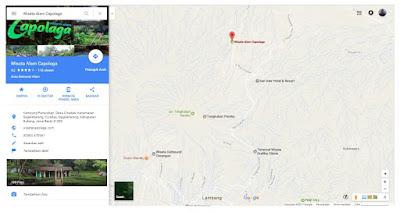 Rute menuju Wisata Alam Capolaga Adventure Camp Subang