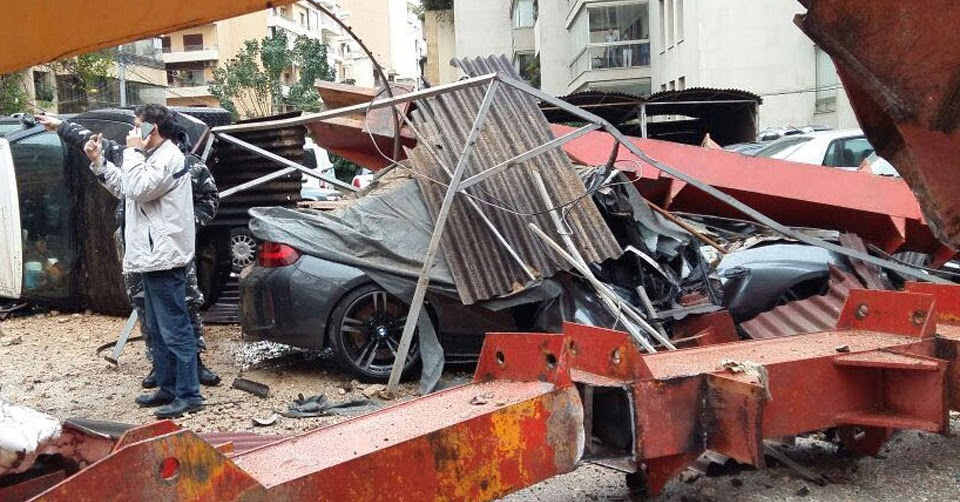 Crane Collapses On And Destroys Bmw M2 In Lebanon