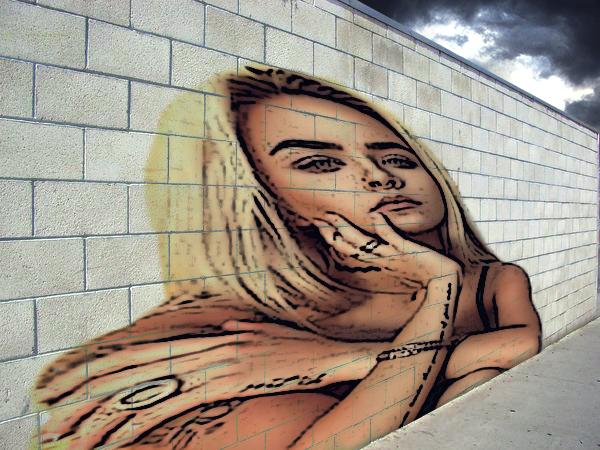 الرسم على الجدران بإستعمال برنامج الفوطوشوب Photoshop Tutorial