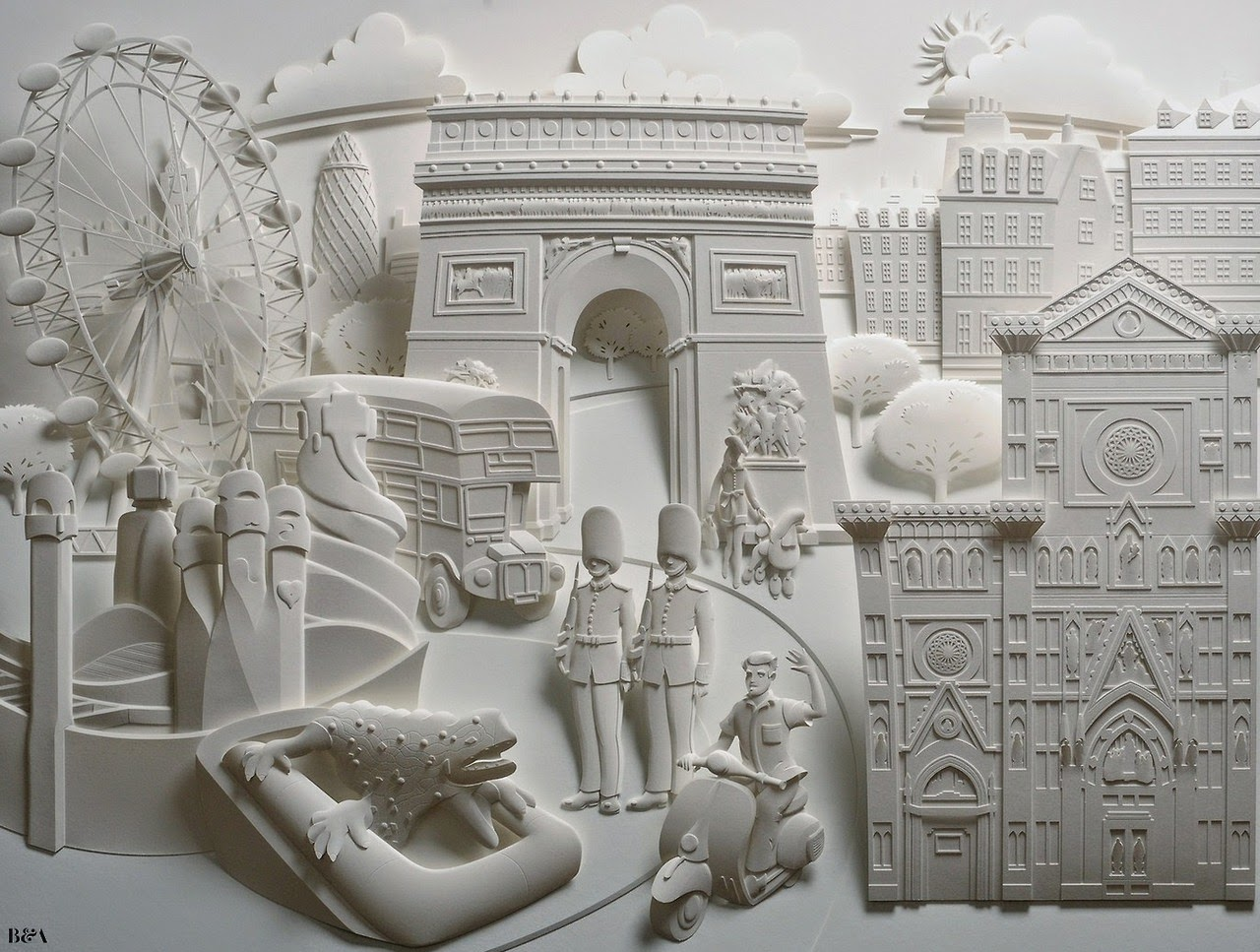 Simply Creative 3d Paper Sculptures By Jeff Nishinaka