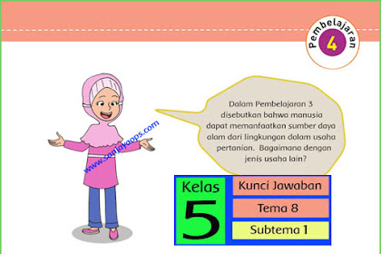 Kunci Jawaban Tematik Kelas 5 Tema 8 Halaman 31, 32, 33, 34