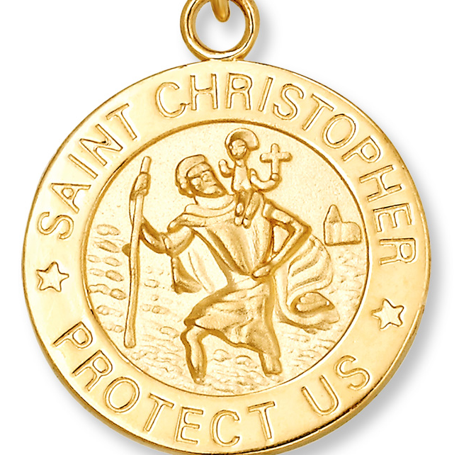 saint christopher yellow gold necklaces