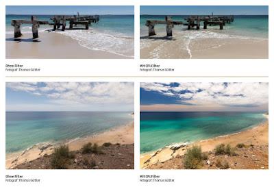 filter cpl untuk foto lautan