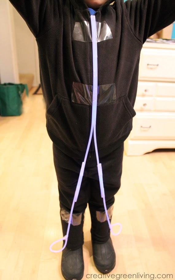 How To Make A Glow In The Dark Stick Figure Costume