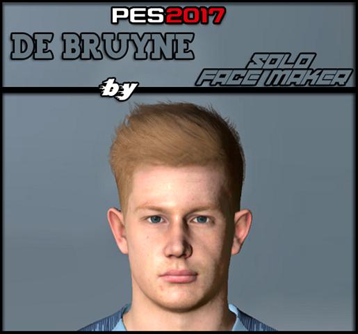 Kevin De Bryune (Man City) Face For Pes 2017
