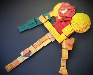 3D Samus Made From Video Game Cartridges