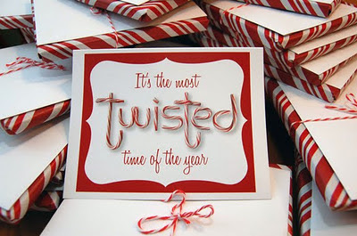 hand made candy cane type