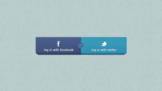 Facebook & Twitter Login Buttons
