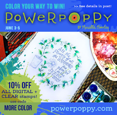 Power Poppy, Color Your Way To Win, June 3-5, 2016, 10% off sale