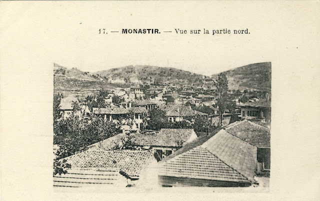 Part of the city with the hills to the north 1917