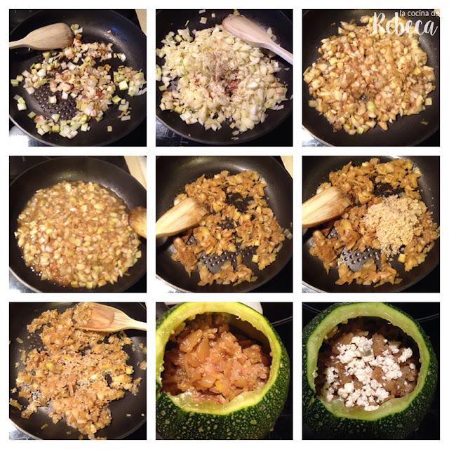 Receta de calabacín relleno de pollo y quinoa 03