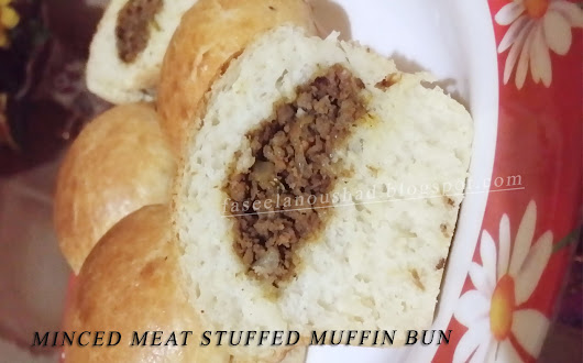 Minced Meat Stuffed Muffin Buns