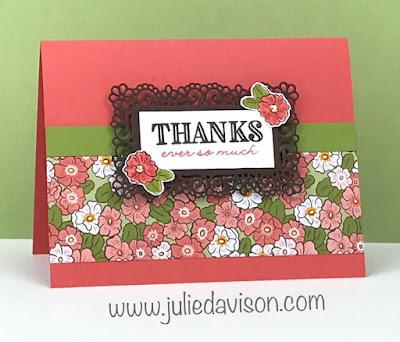 Stampin' Up! Ornate Style Thank You Card ~ Ornate Garden Suite Sneak Peek ~ www.juliedavison.com #stampinup #GDP235