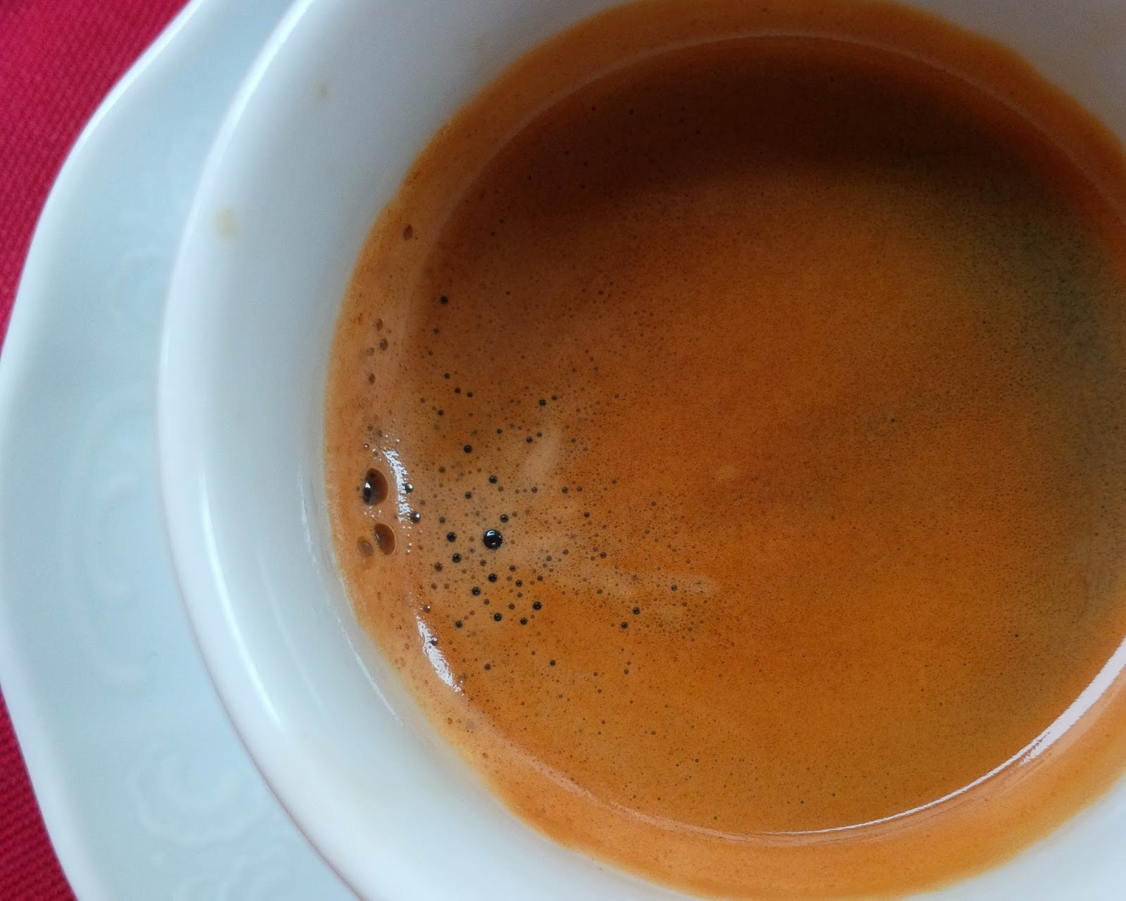 A cup of proper Italian espresso