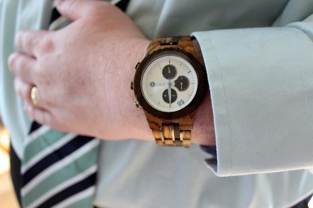 working dad time gift unique men's wood watch suit tie
