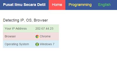 Deteksi browser dengan php