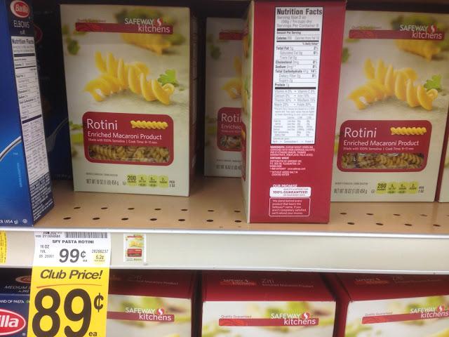 Rotini Pasta, Safeway Kitchens - Safeway