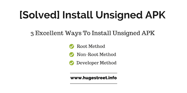 install unsigned apk on android
