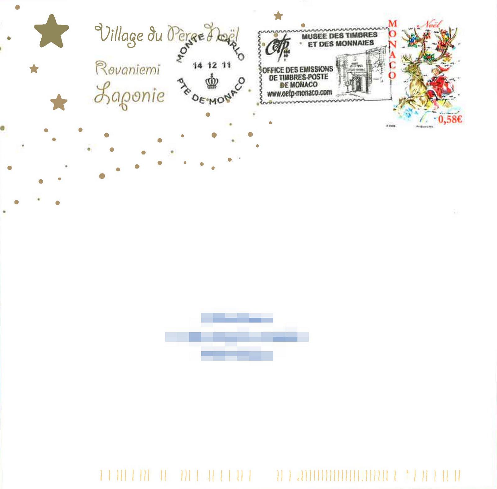 Faut Il Un Timbre Pour La Lettre Au Pere Noel.Blog Philatelie Le Pere Noel Repond Aussi A Monaco