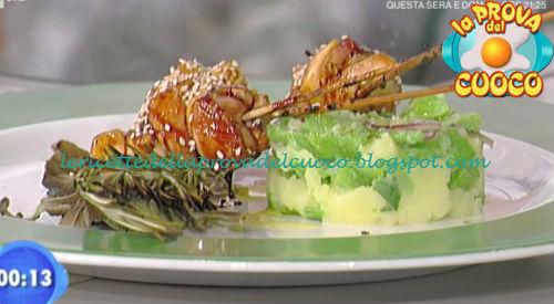 Spiedini di pollo con insalata di fagioli corallo ricetta Bottega da Prova del Cuoco