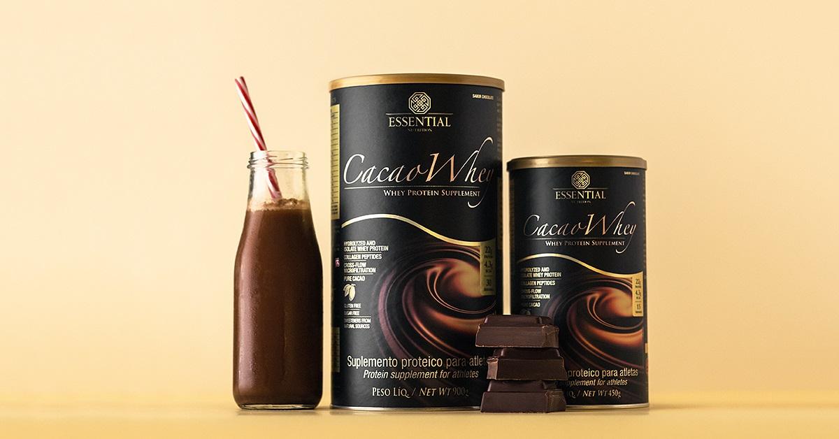 c45b3f085 Essential Nutrition lança Cacao e Vanilla Whey com 900g - Joana D arc