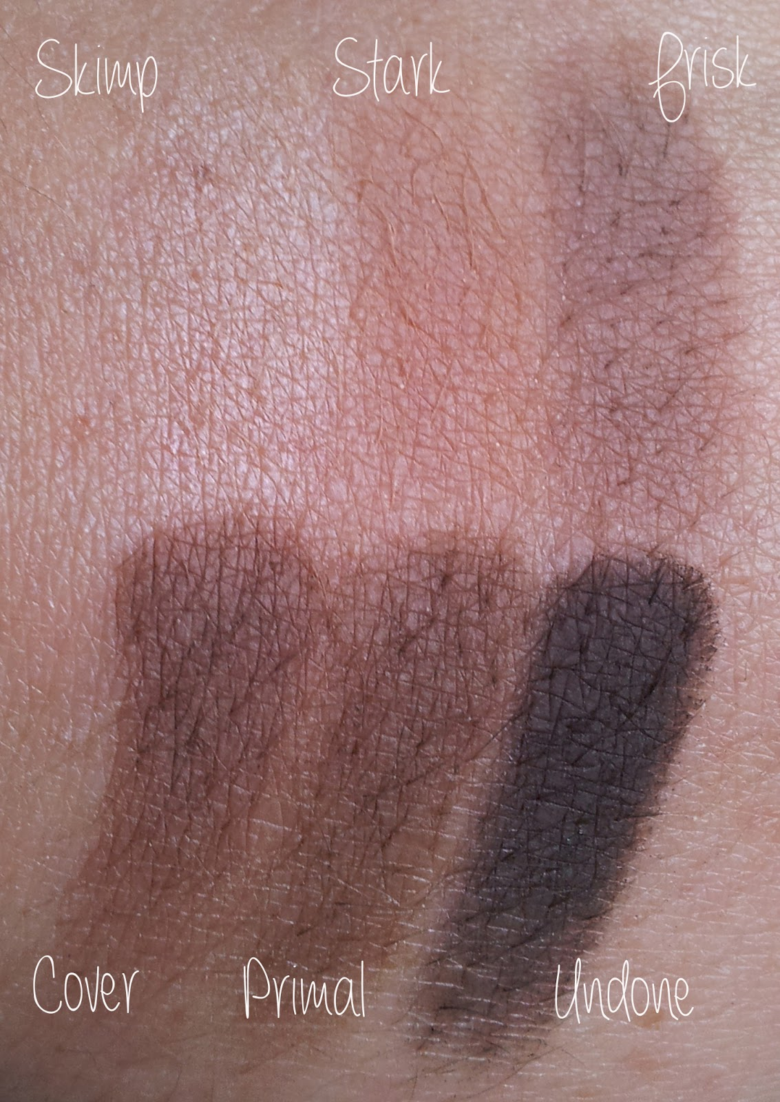 Urban Decay Naked 2 Basis Swatches