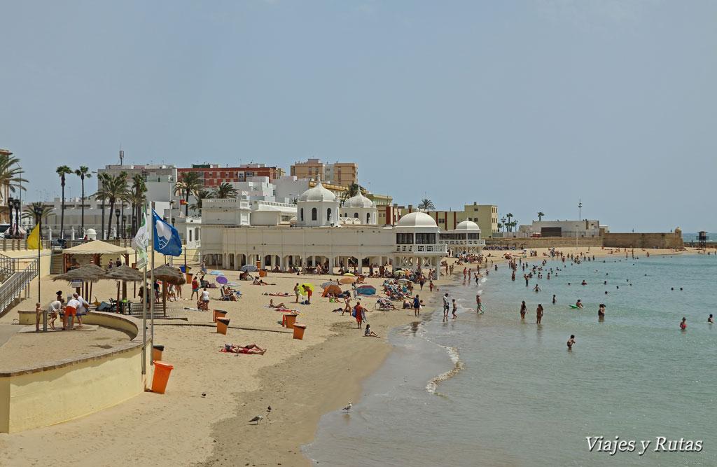 Playa de la caleta y balneario de Cádiz