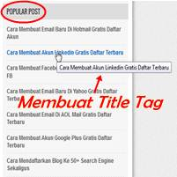 Cara Membuat Title Tag Pada Popular Post Blog Agar SEO