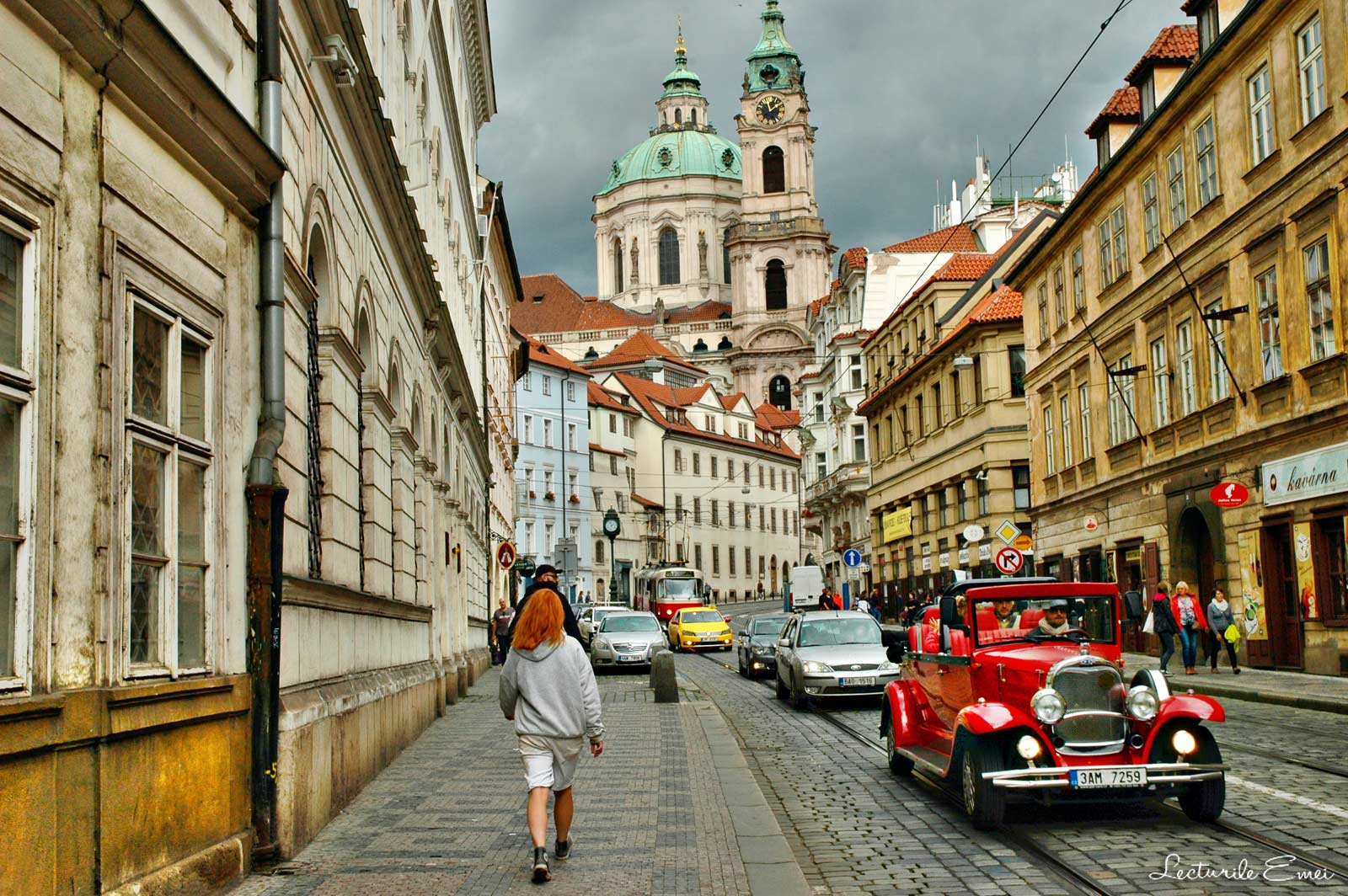 Stradă din cartierul Mala Strana, Praga
