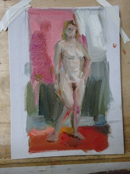Quick Colour Study Sketch Of A Full Figure Painting I Did