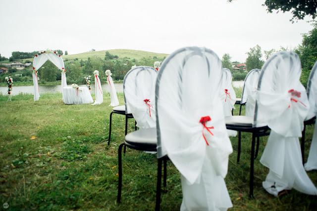 На месте проведения свадебной церемонии