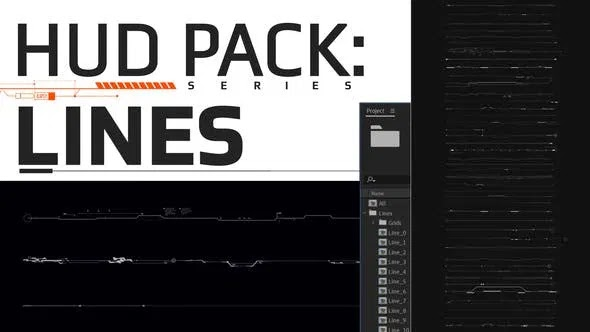 Videohive Hud Pack – Lines 28108512