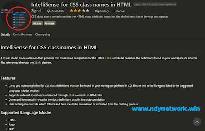Intellisense For CSS Classnames