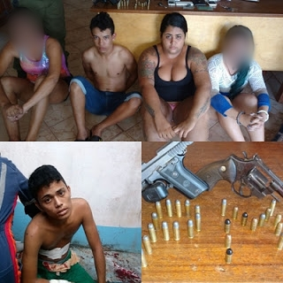 ITAITUBA/PA: SEIS PESSOAS FORAM PRESAS PELA POLICIA MILITAR ACUSADAS DE ENVOLVIMENTO EM ASSALTOS OCORRIDOS NA CIDADE.