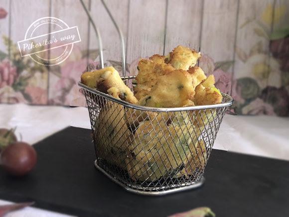 Buñuelos de calabacín y Torta del Casar