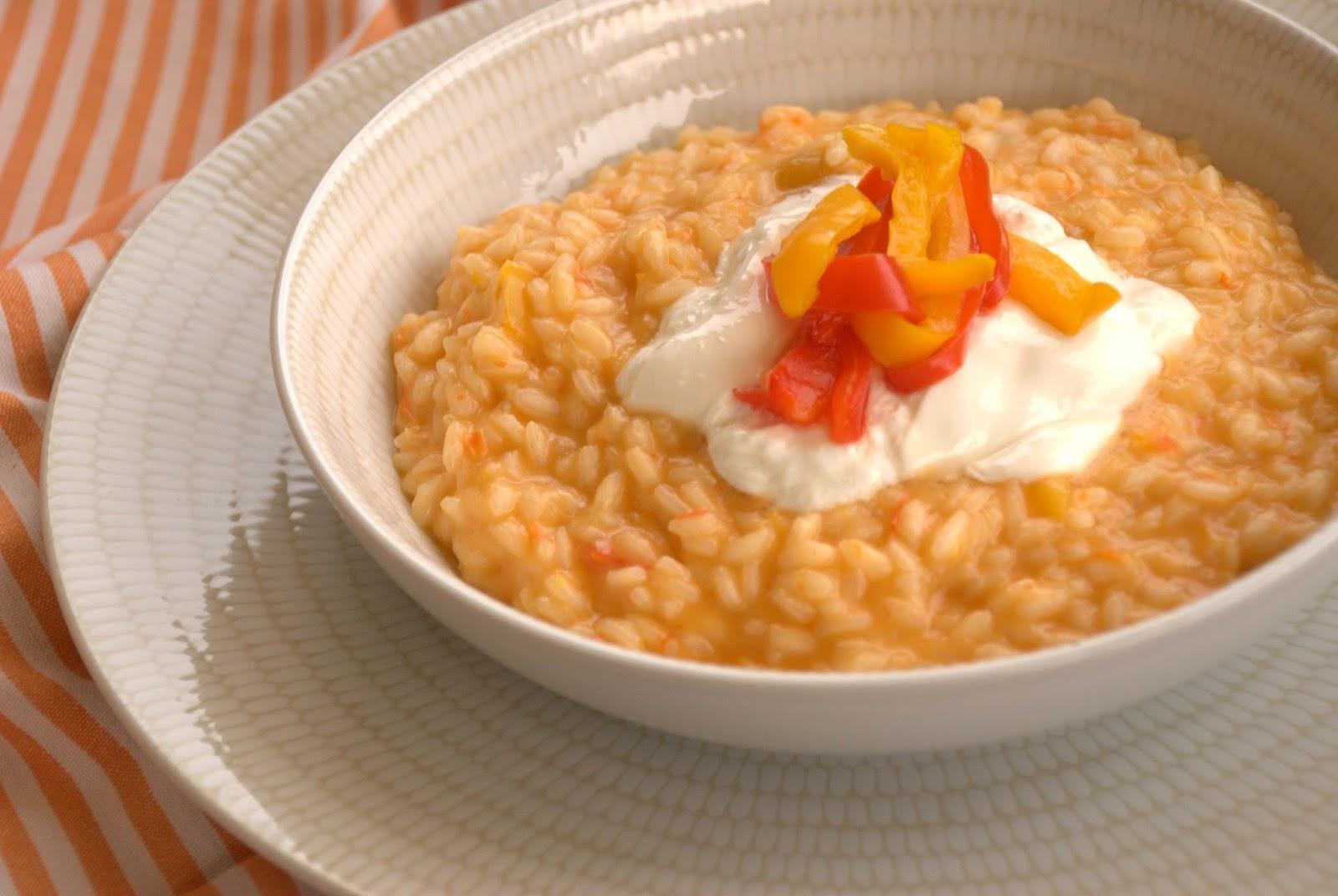La Credenza Burrata : La gallina vintage: risotto peperoni e burrata