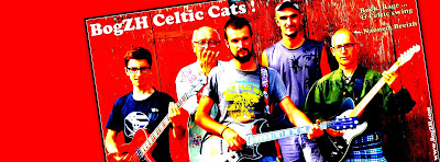 Photo du groupe breton de Rock 'n' Roll Celtique Punk - Folk BogZH Celtic Cats !