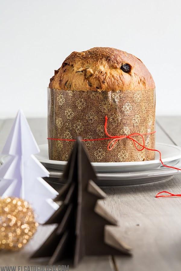 """Panettone casero con tres masas, suave, jugoso y """"delizioso"""" vía www.elgatogoloso.com"""