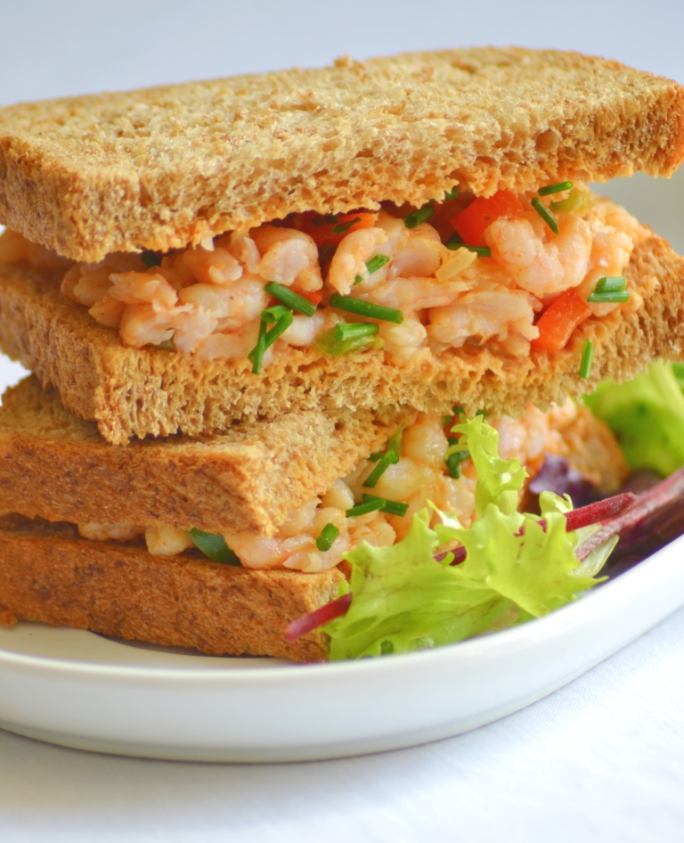 Spicy Peppered Shrimp Sandwich