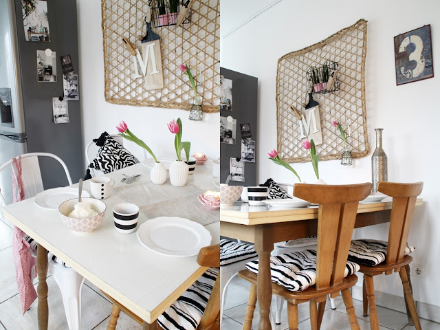 Deko Donnerstag! Heute mit einem vintage Küchentisch, der Kindheitserinnerungen weckt und stylischer Tischdeko