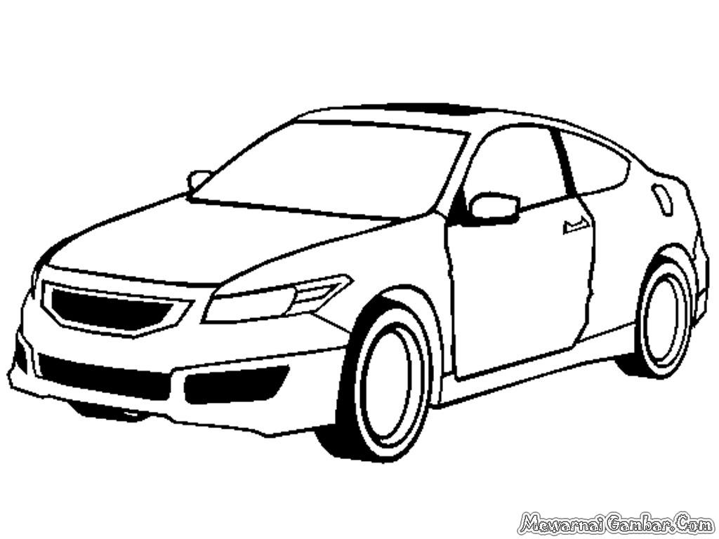 Gambar Mobil Honda Untuk Diwarnai Anak Mewarnai Gambar