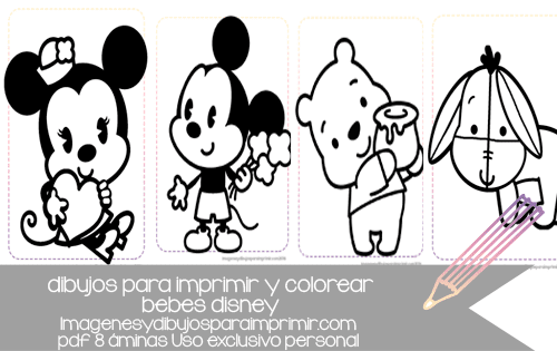 Dibujos Para Colorear De Disney Channel Para Imprimir: Dibujos De Bebes Disney Para Imprimir